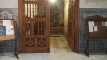 Puerta lateral acceso capilla. Basílica del Prado, Talavera de la Reina.