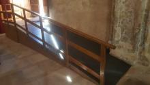 Rampa de acceso interior, Iglesia de la Trinidad de Alcaraz, Albacete.
